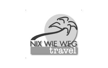 Nix wie weg Travel Logo
